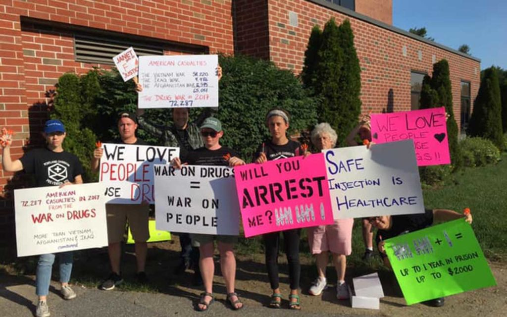 West End News - Protesters outside Opioid Response Summit