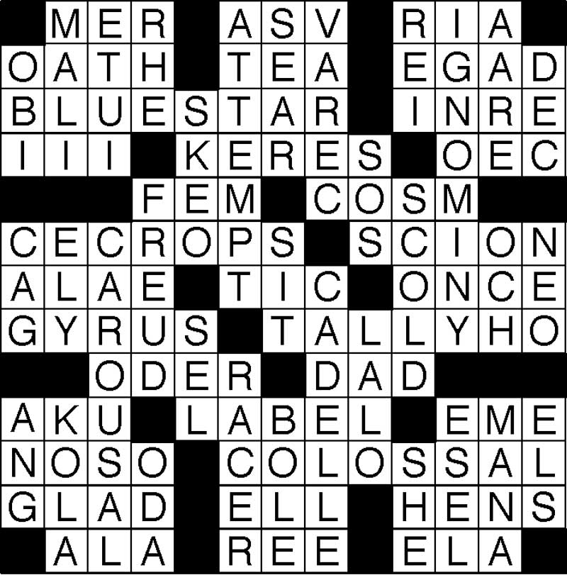 West End News - Crossword Puzzle - Sep 2019