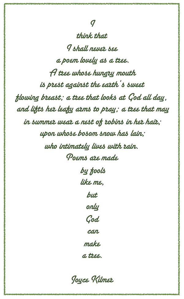 West End News - Wither Forest City - Tree poem image
