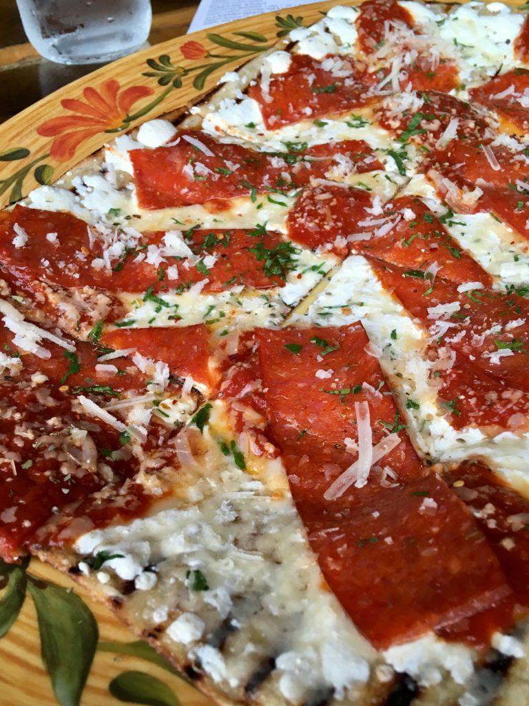 Coal's Pizza: the Dean Martin (fontinella and mozzarella cheeses, tomato, pepperoni, pecorino).