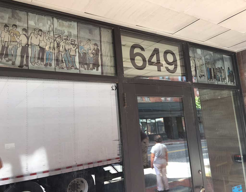 West End News - Local Sprouts doorway incl. Labor Mural image
