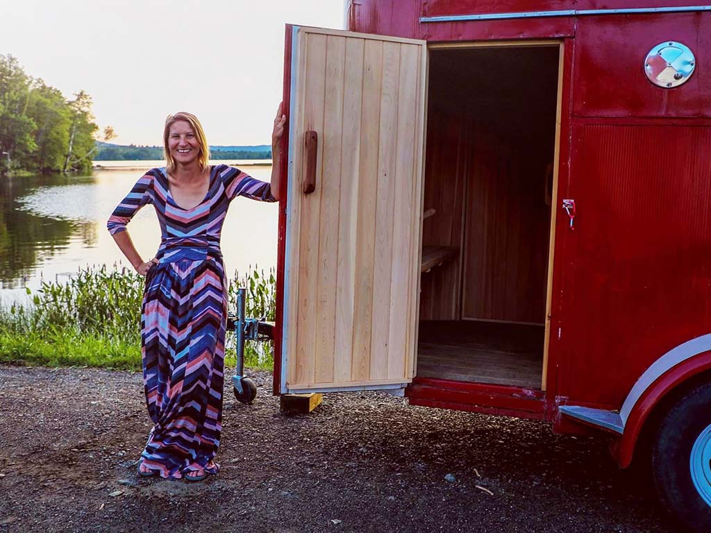 Hannah Hamalainen - founder and saunapreneur of Little Red Sauna