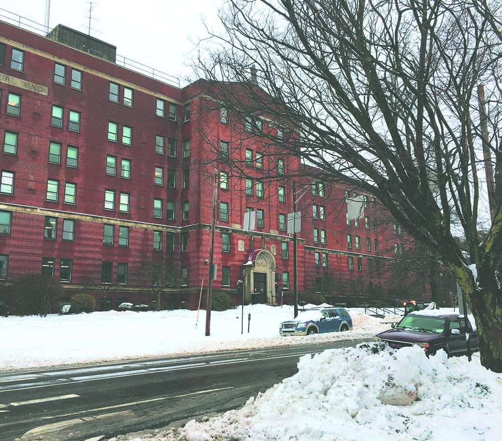 West End News - Northern Light State Street Hospital on snowy day