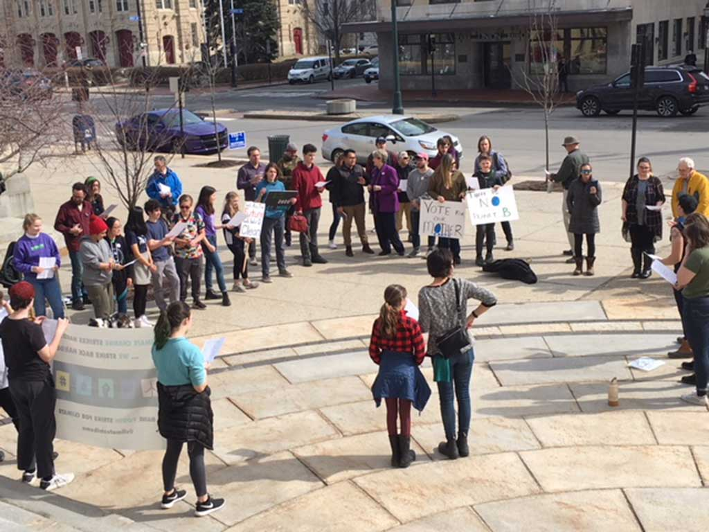 West End News - Climate Angst - Youth rally at City Hall on Super Tuesday