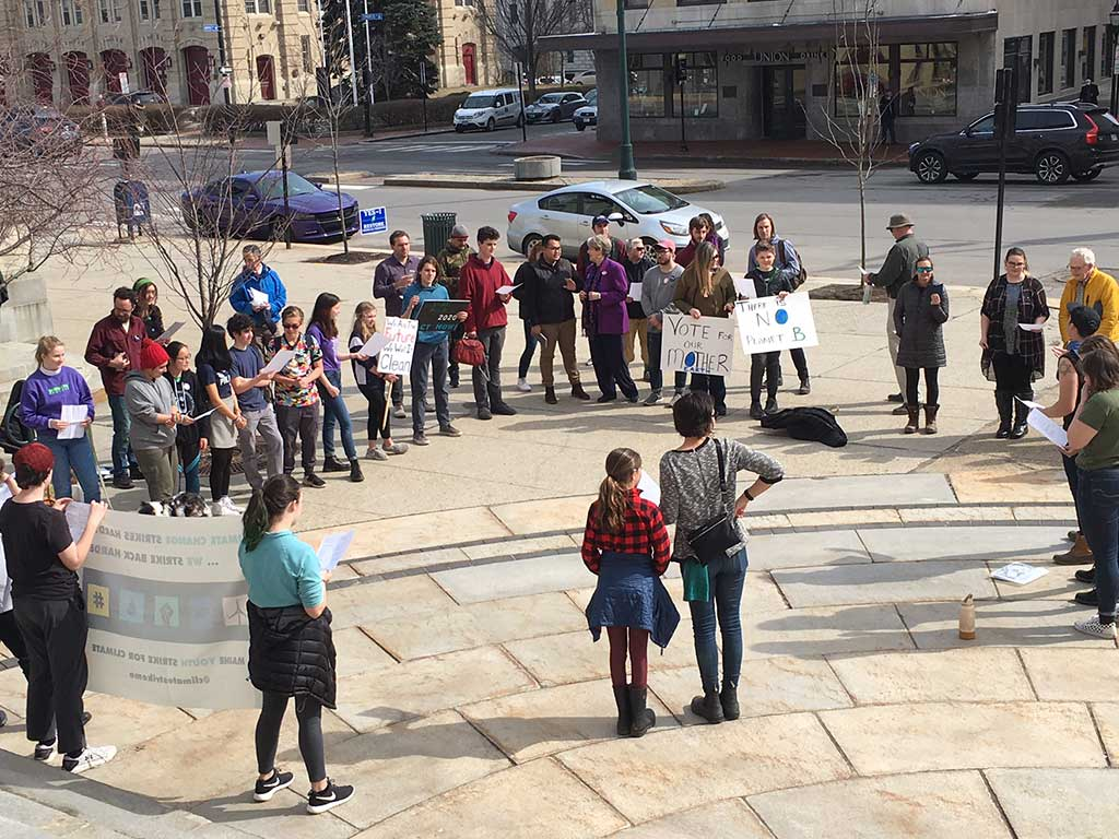 West End News - Youth rally at City Hall to urge climate voters