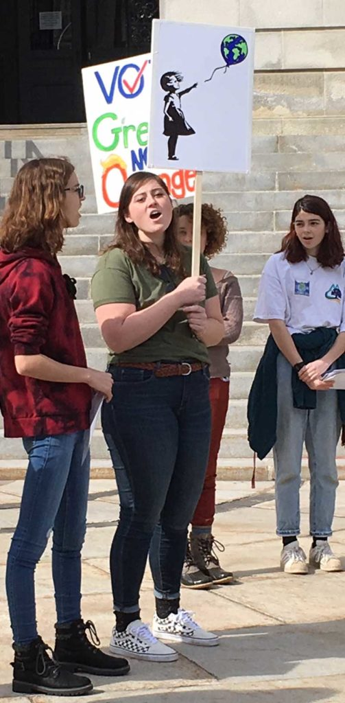 West End News - Youth rally at City Hall on Super Tuesday 2020 to urge climate voters - By Tony Zeli