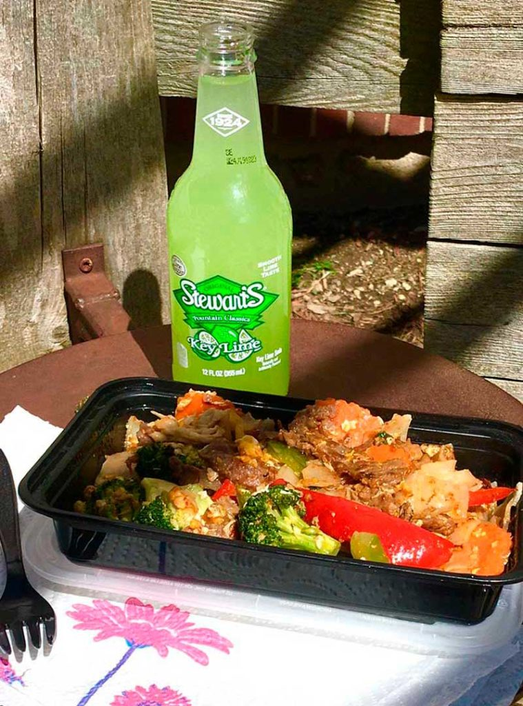 West End News - Mi Sen - Drunkin Noodle with beef and key lime soda