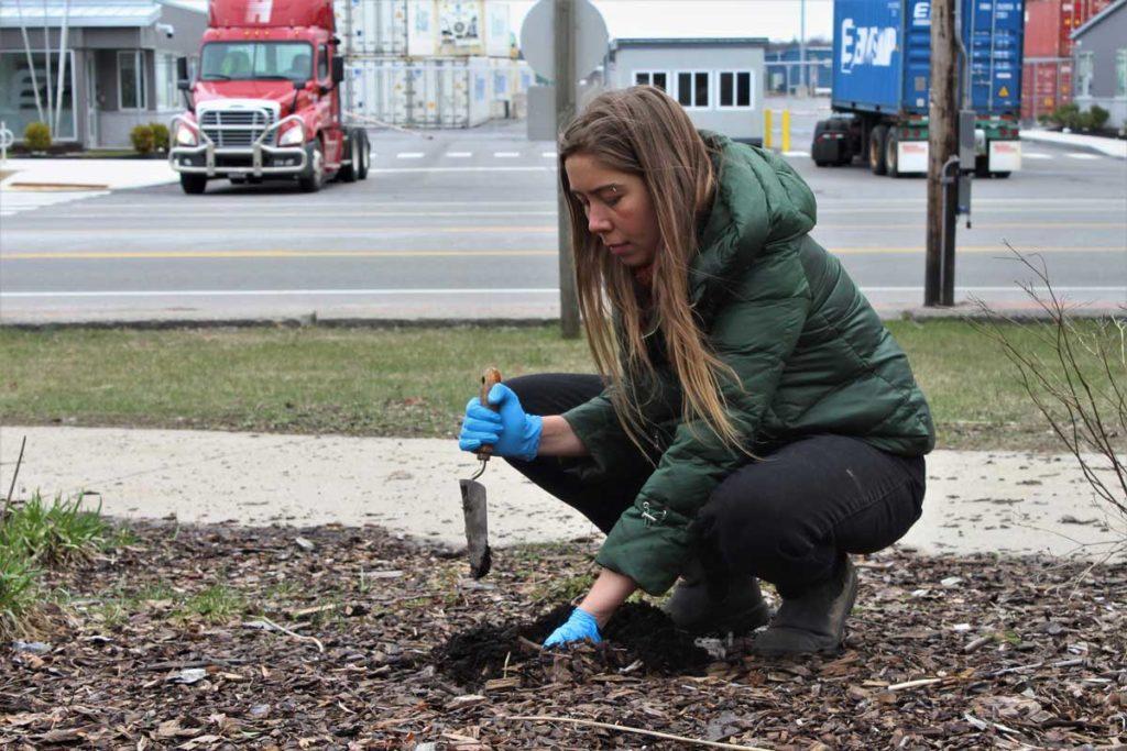 West End News - Soil lead test - Laura Heinlein, Amercorps volunteer