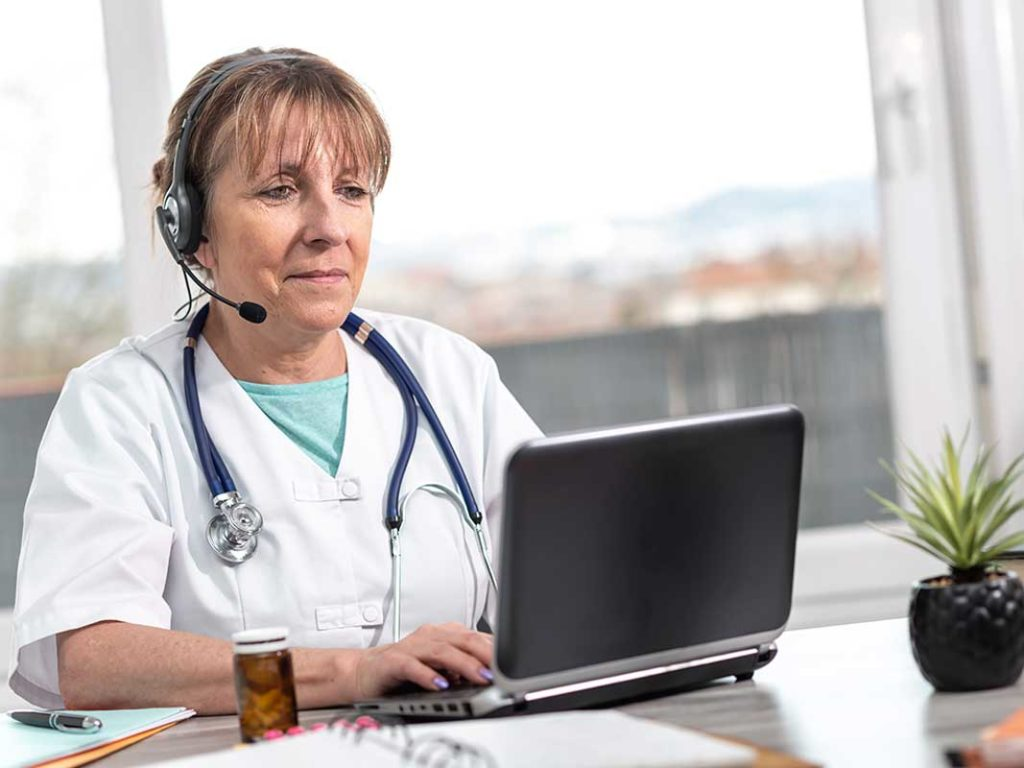 West End News - Portrait of female doctor during telehealth medical consultation. -Photo by thodonal / Adobe Stock