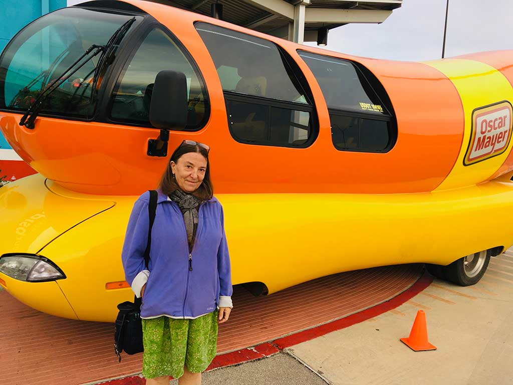West End News - Fran and the Oscar Mayer Weinermobile