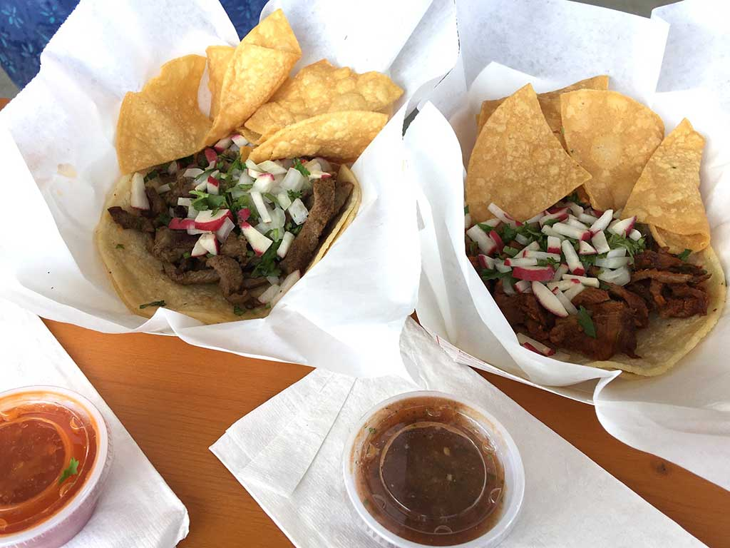 West End News - meat tacos from Tacos La Poblanita food truck
