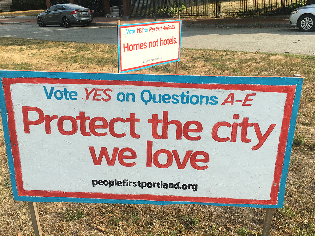 West End News - Ballot Question A-E Campaign Sign