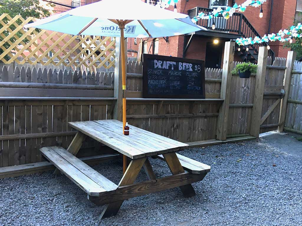 West End News - Dining Al Fresco atBramhall Pub backyard patio - By James Fereira