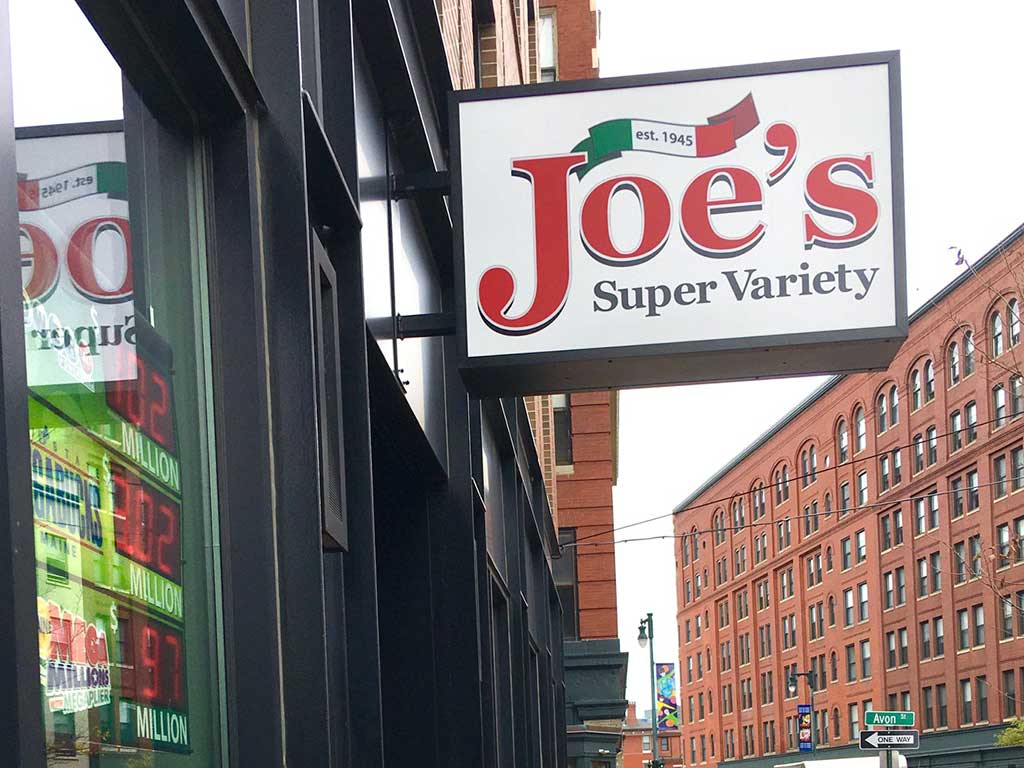 West End News - Joe's Super Variety - ext. sign