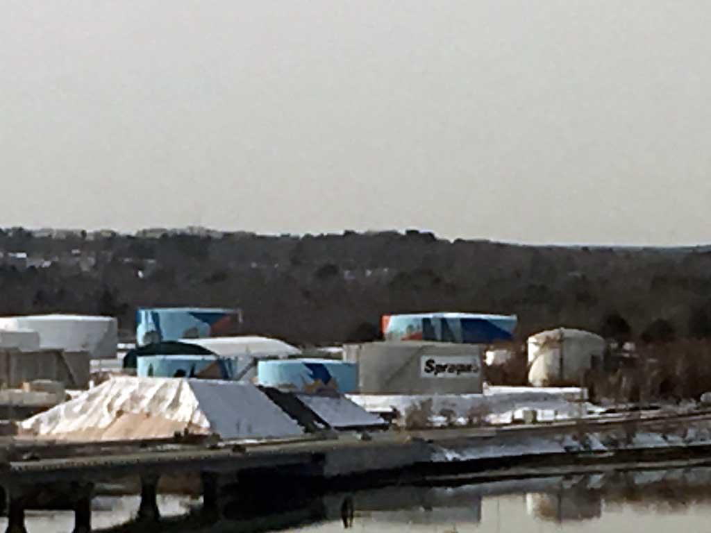 West End News - Tank farm in South Portland - Sprague oil tanks