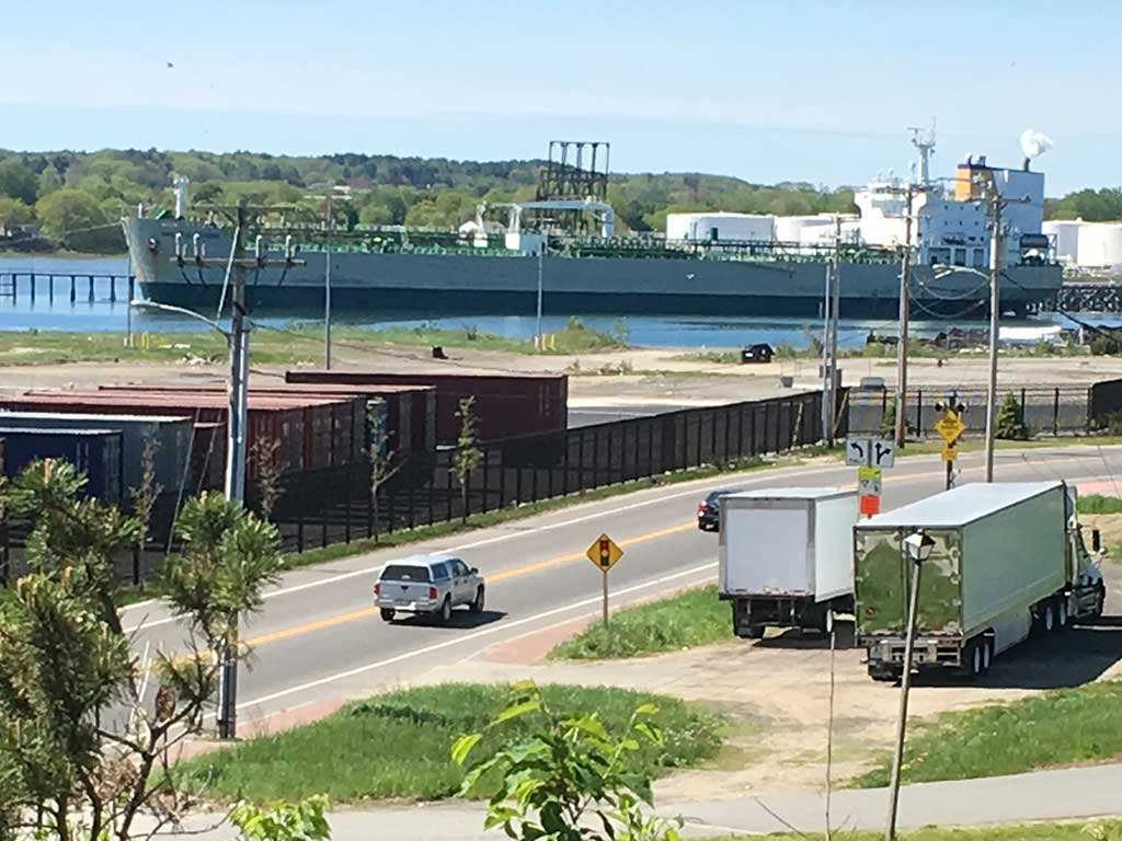 West End News - Tanker offloading in Portland Harbor