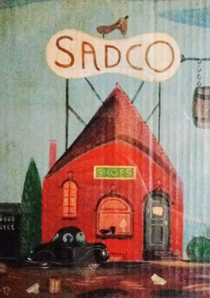 West End News - 'Sadco' - Painting by Pat Corrigan