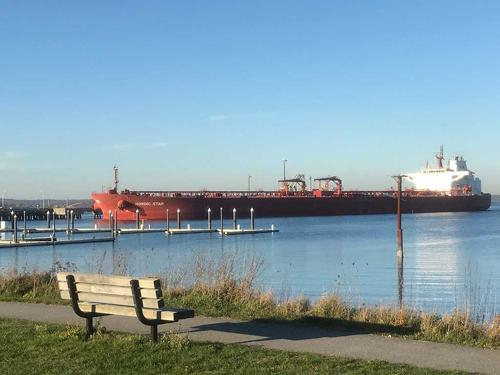 West End News - Oil tanker from Bug Light Park - By Espahbad Dodd for Toxic Fumes feature
