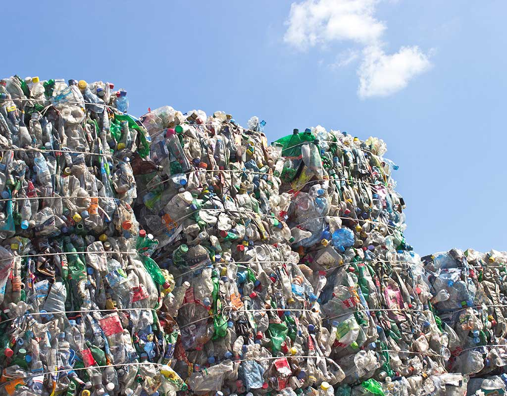 West End News - Circular Economy - Recyling stacked for shipping