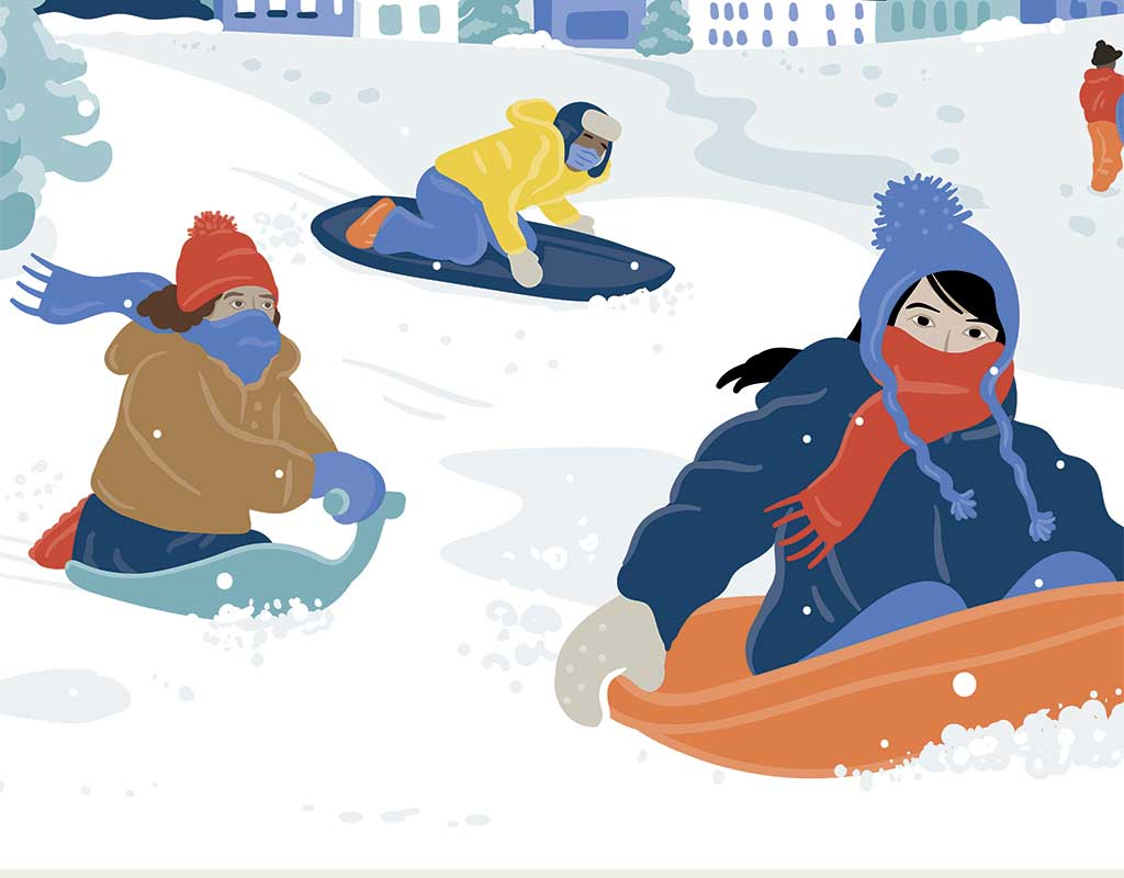 West End News - Stay the Course - Winter sledding