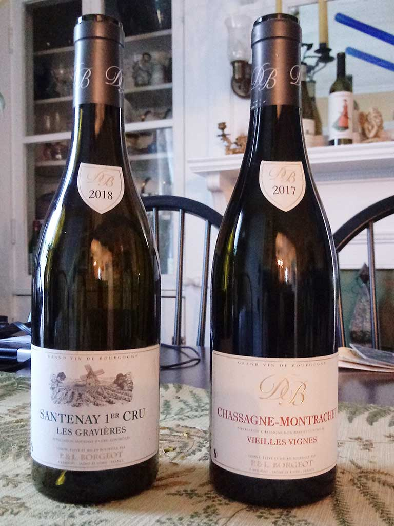 West End News - Burgundy bottles Santenay 1er Cru and Chassagne-Montrachel