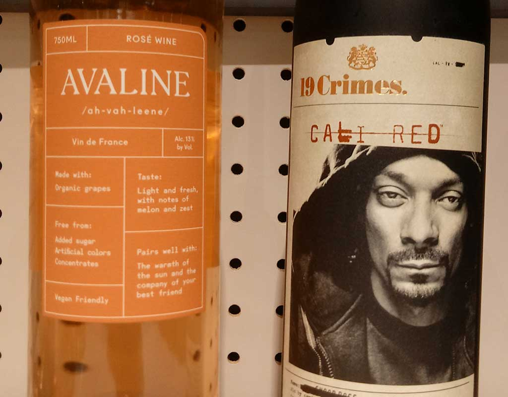 West End News - Celebrity Wines: Avaline and 19Crimes on the shelf