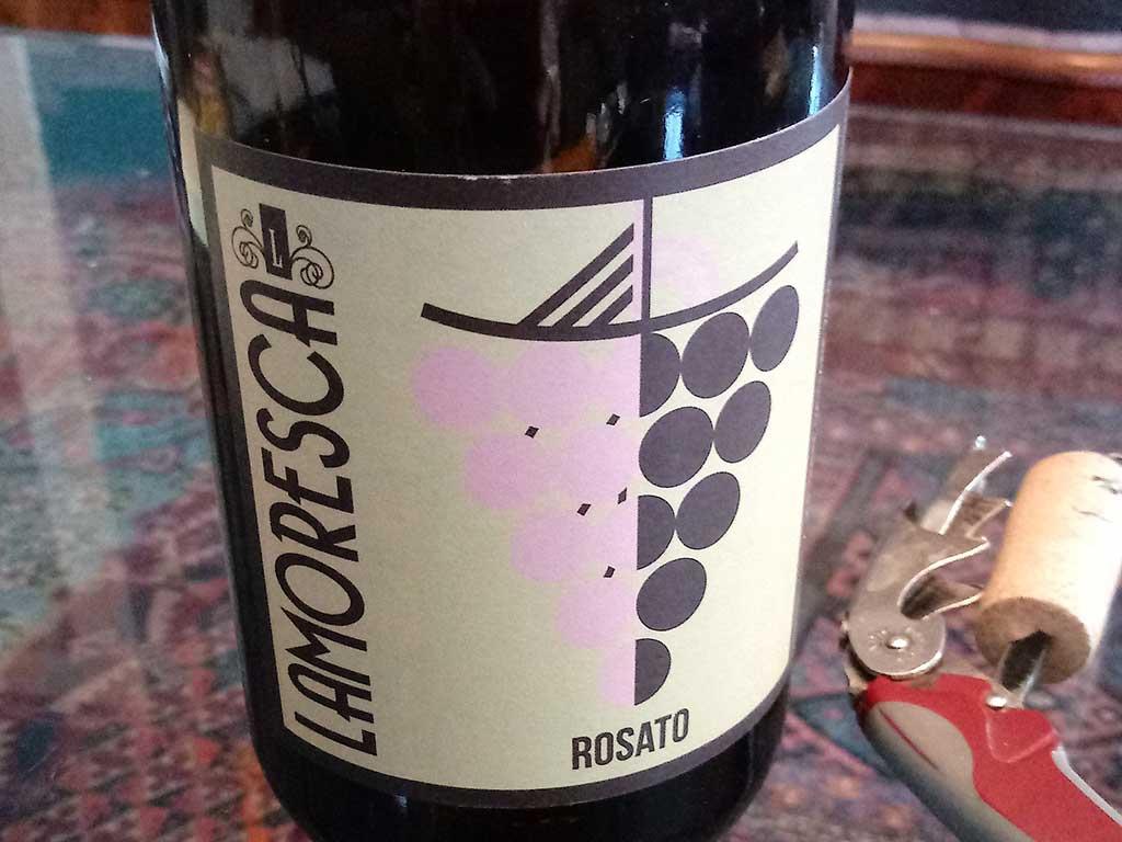 West End News - Lamoresca wine bottle