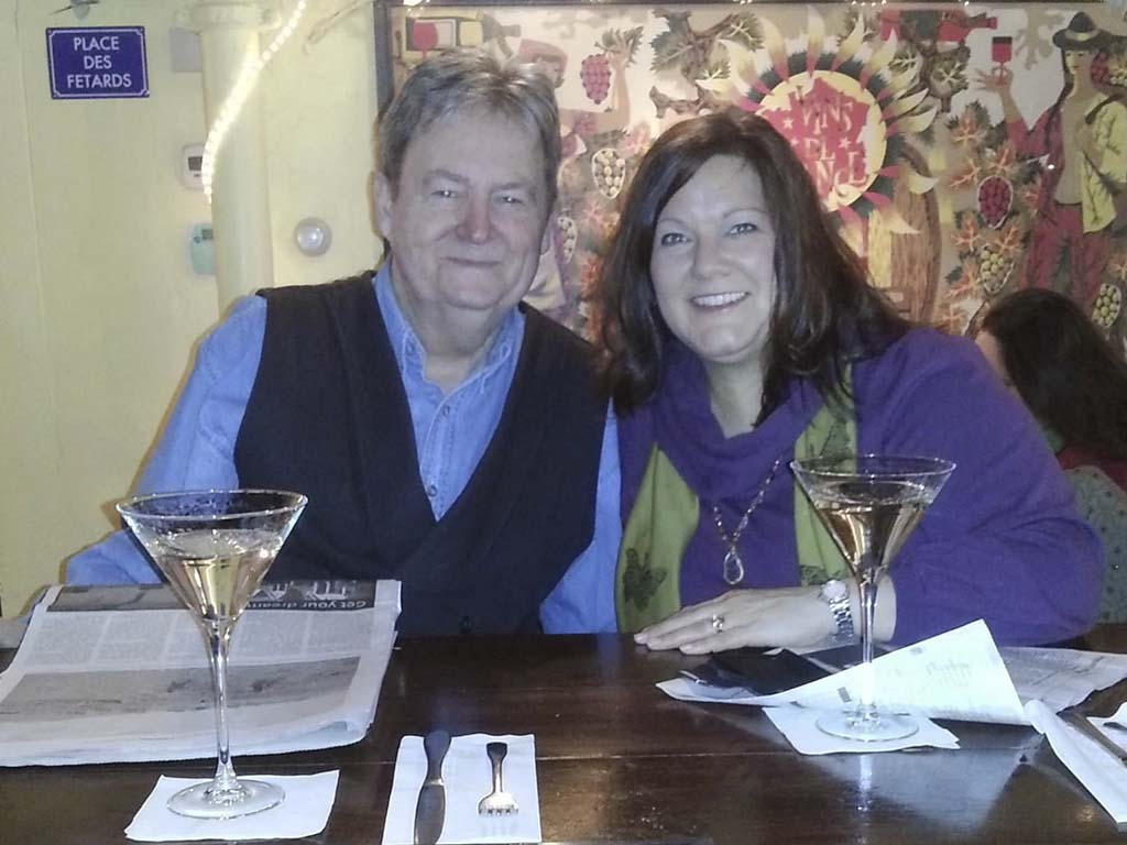 West End News - Thoughts on food and wine -Layne V. Witherell and wife Judy at The Merry Table