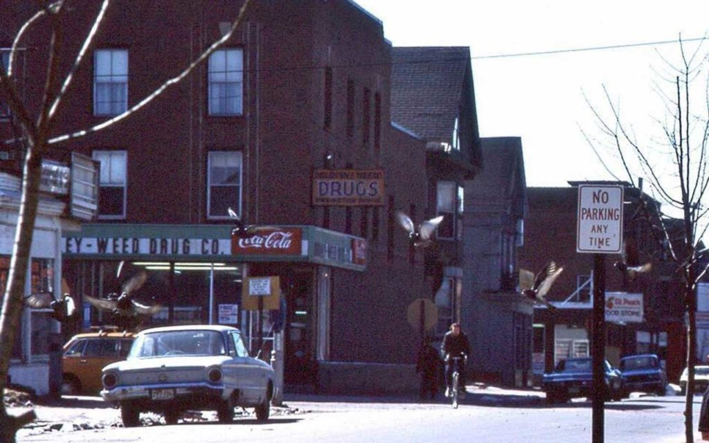 West End News - Site of Pine Street Theatre -Corner of Pine and Brackett Streets in 1970s