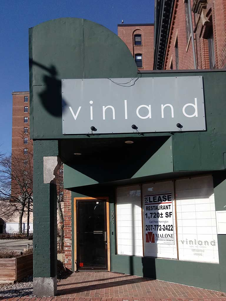 West End News - Vinland exterior with for lease sign