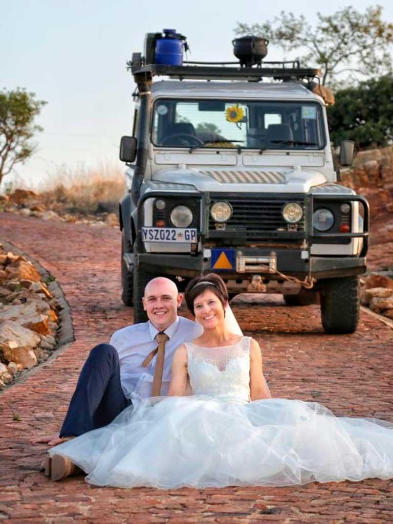 West End News - Virtual Travel Series - Rudolf and Gerda on their wedding day in Malawi