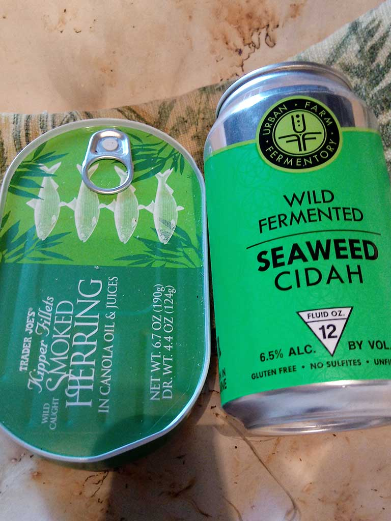 West End News - Seaweed Cidah and Smoked Herring - Photo by L. Witherell